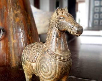 bronze horse sculpture Figurine pony bronze Small bronze sculpt Horse bronze Sculptured horse Equestrian bronze Pony sculpture