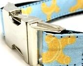 Macaroni Dog Collar | Personalized Dog Collar | Noodle Dog Collar | Dog Harness & Leash | Food Dog Collar | Blue Dog Collar | Dog Collar