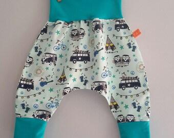 Folky turquoise harem pants