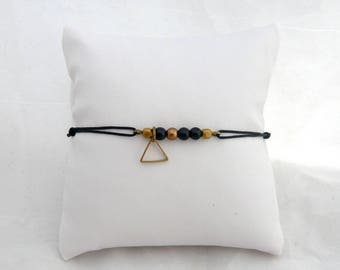 triangle and black pearl bracelet