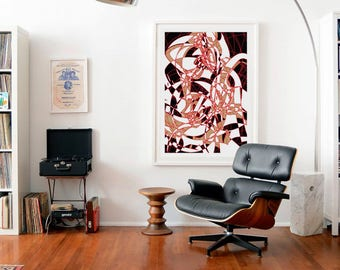 Abstract prints - contemporary art - Edition limited - 100 x 70 cm. 'Incident I'