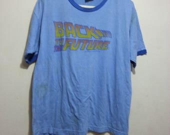 vintage 90s back to the future the movie men ringer t-shirt size L rare!!
