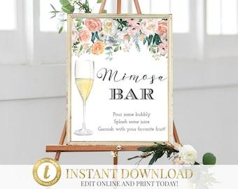 Mimosa Bar Sign, Mimosa Bar, Baby Shower Sign, Baby Shower, INSTANT DOWNLOAD, Momosa Bar, Mimosa Sign, Baby Shower Mimosa, Printable Mimosa