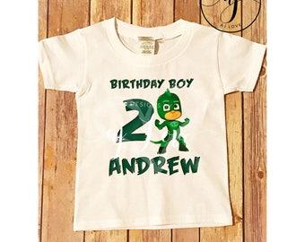 PJ Masks Birthday Tees//Birthday Party//Toddlers//Youth//Gekko//CatBoy//Owlette