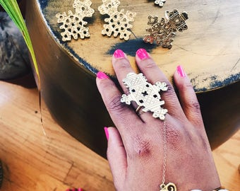 Ethiopian Heritage Ring // Coptic cross ring, Key of Life, Ancient Egyptian Jewelry, Ethnic Jewelry, Brass Jewelry, Afrocentric Jewelry
