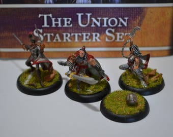 Guild Ball - Union Starter Set - PAINTED/FINISHED - Complete and on turf rounds