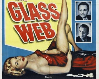 Back to School Sale: The Glass Web Movie POSTER (1953) Thriller/Drama