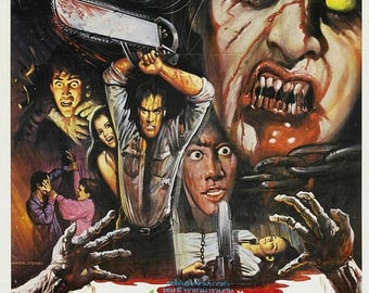 Back to School Sale: THE EVIL DEAD Movie Poster Rare Horror