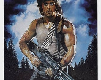 Back to School Sale: FIRST BLOOD Movie Poster Stallone Rambo
