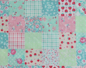 NEW ~ 1/2 yard Yuwa Atsuko Matsuyama Japan | Lovely Patchwork | AT116549 Mint