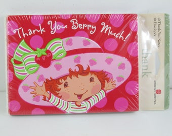 Invitations 10 With Envelopes, Strawberry Shortcake, Thank You Berry Much, American Greetings  Stationary