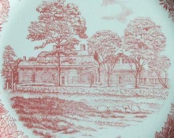 Longfellow's Wayside Inn. Vintage Staffordshire English Plate  JonRoth