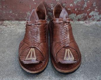 TAMAZULA FINITO  VINTAGE old mexican sandals men's huaraches mexicanos genuine leather cuero autentico