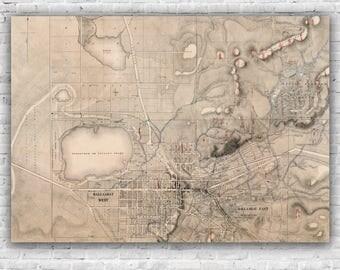 Ballarat Map - Quartz Reef Gold Map of Ballarat 1861, poster, print, antique map, wall art, Ballarat