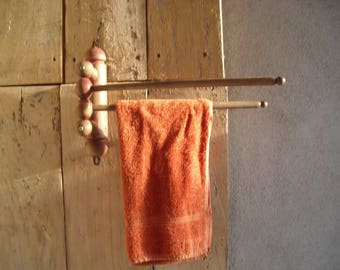 Old French Towel Rail.  VintageTwo Arm Towel Rail. Kitchen Towel Rail. Bathroom Towel Rail.