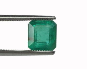 AAA IGI Certified 0.83 Ct Colombian Emerald Faceted Loose Gemstone