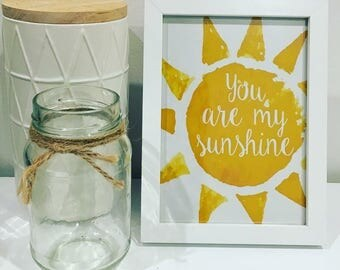 You Are My Sunshine - Framed Print