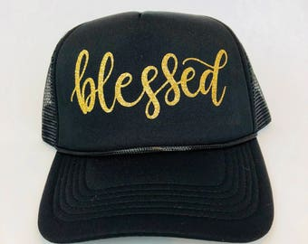 Blessed Trucker Hat, Blessed Hat, Fall Hat, Thanksgiving Hat, Cute Hat, Thanksgiving, Womens Hat