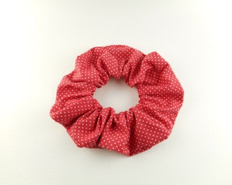 Scrunchie, tie hair, elastic hair - vintage - red and white dots