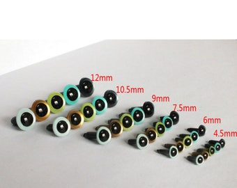4.5-12mm 20pcs -plastic  saftey  eyes toy accessories ,animal eyes,doll accessories
