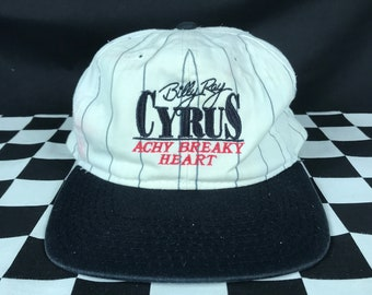 Vintage Billy Ray Cyrus Snapback Hat / Achy Breaky Heart / 1990's / 1992 / Country Western Music / Some Gave All Album / Singer