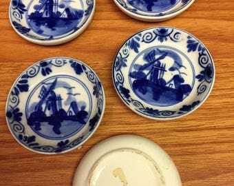 Delft Blue and White Butter Pats 5