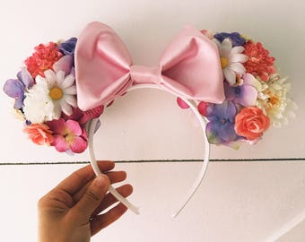 Tangled Inspired Floral Ears