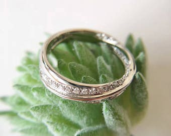 Wedding Rings, Wedding Bands, Wedding Bands, White Gold Wedding Bands, White Gold Bands, Diamonds Bands, Diamond Bands, Intertwining Band