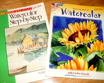 Watercolor Books by Walter Foster Step by Step Instructional Tutorials