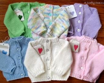 Handknit Baby Sweater, Baby Shower Gift Sweater,  Baby Girl Baby Boy Sweater, Toddler Cardigan, Handmade Newborn Sweater, Knit Baby Jacket,