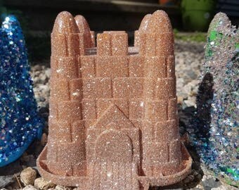 Glitter sandcastle