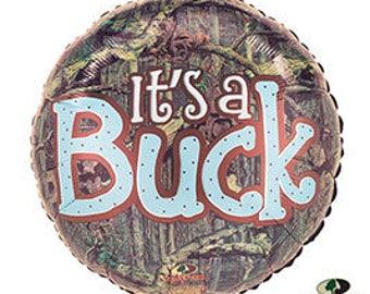 "18"" It's a buck baby boy shower balloon. hunting baby shower theme. buck balloon. buck decor. baby boy buck. baby buck balloon. buck decor"