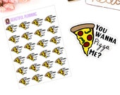 You Wanna Pizza Me? Pizza Planner Stickers & Die cut for use in ERIN CONDREN LIFEPLANNER ™, Happy Planner, Tn, Midori,