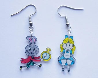 Alice in Wonderland and rabbit