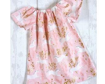 Girls Unicorn Dress, Unicorn Design Dress for Girls, Toddler Unicorn Dress, Cake Smash Outfit, New Baby Dress, Girls Prop Dress