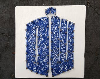 Mini Dr Who Tardis String Art Made to Order Home Decor