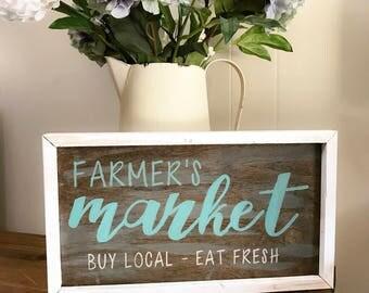 Farmer's Market farmhouse Sign