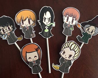 Harry Potter Cupcake Toppers, Harry Potter birthday, Harry Potter Party (7)