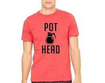 MEN PREMIUMI' pot head men  T-Shirt Funny Sarcasm Humor Shirts