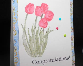 Tulips of congratulations