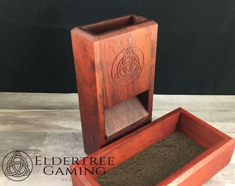 Premium Dice Tower with dice storage - Padauk - Eldertree Gaming