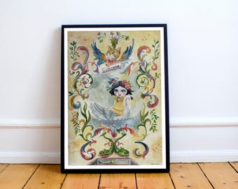 Leda and the swan - Instant Download - Wall decor