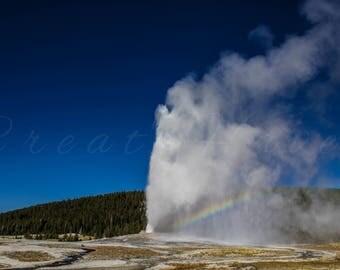 Old Faithful ** Digital Photograph ** Yellowstone National Park, Photography