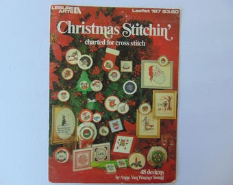 Christmas Stitchin Charted for Cross Stitch 48 Designs Leisure Arts 197