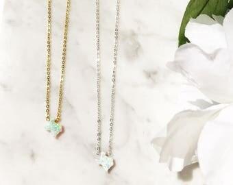 Texas necklace + State necklace + opal necklace + TX + Texas charm + small Texas necklace + Texas accessories + Texas souvenir + Texas