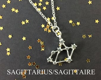 Zodiac Necklace - Astrology Necklace - Sagittarius Necklace - Constellation Necklace - Sagittarius Jewelry - Birthday Gift - Zodiac Symbol