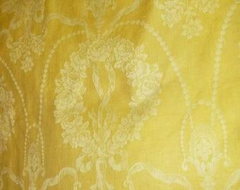 Large Panel Antique French Damask Mattress Ticking Fabric