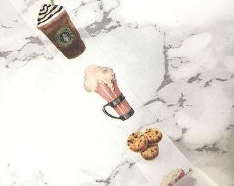 Coffee Washi Tape - Coffee Tape - Coffee Tape - Coffee Washi Tape - Coffee Latte Washi Tapes - Starbucks - Stationery - Petit Bout de France