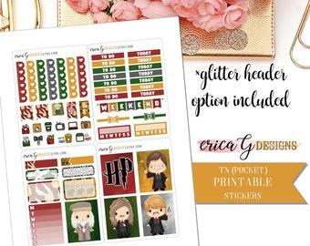 PRINTABLE TN KIT: Potter's World/Erin Condren Vertical/Printable/Digital/Weekly Kit