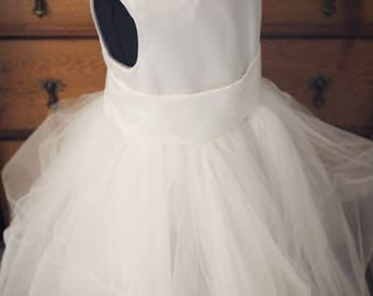 Custom White Flower Girl Dresses